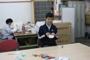 折り紙でカーネーション製作